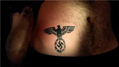 gamali-hac-ve-kartal-nazi-sembolleri-dovmesi---natzi-symbol-tattoo