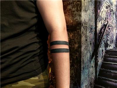 cift-kol-bant-dovmesi---double-arm-band-tattoo