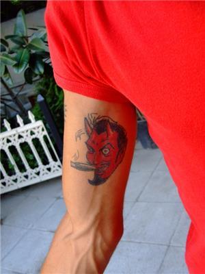 sigara-icen-seytan-dovmesi---smoking-devil-tattoo