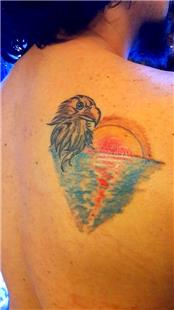 Kartal ve Günbatımı Dövmesi / Eagle and Sunset Tattoo