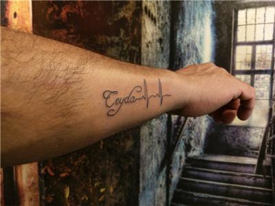 ceyda-isim-sonsuzluk-ve-kalp-ritmi-dovmesi---name-infinity-and-heartbeat-tattoo