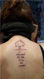 Ağaç ve Yazı Dövmesi / Tree and Text Tattoos