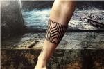 geometrik-kol-bandi-dovmesi---geometric-hexagon-pattern-arm-band-tattoo