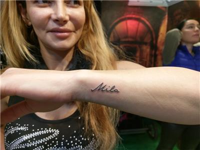 mila-isim-dovmesi---name-tattoo