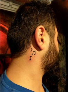 Kulak Arkasına Nota Dövmeleri / Notes Tattoo Behind the Ear