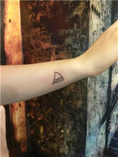 Minimal Yelkenli Dövmesi / Minimal Simple Sailboat Tattoo
