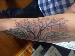 Kanat ve Ağaç Dövmesi / Wing and Tree Tattoos
