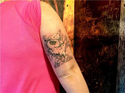 baykus-dovmesi---owl-tattoo