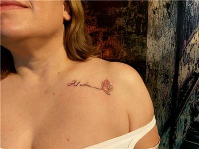 omuza-yazi-ve-cicek-dovmesi---latin-word-and-flower-tattoo