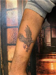 Alt Kol Üzerine Kartal Dövmesi / Eagle Tattoo on Arm